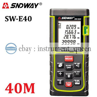 SNDWAY 40M/131ft/1575in Laser Distance Meter Range Finder Measure Diastimeter