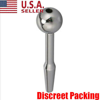 Stainless Steel Urethral Dilator Through-hole Urethral Sound Penis With Ball Tip