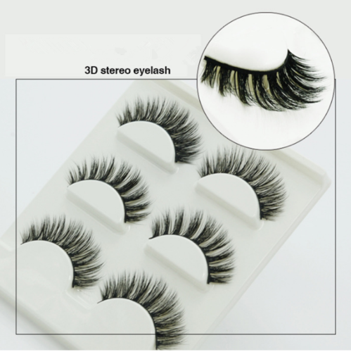 3 Pairs 3D Stereo Makeup Handmade 100% Mink Hair Long Eye Lashes False Eyelashes
