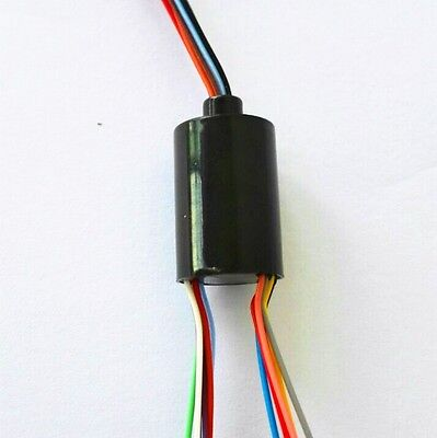 12.5mm 300rpm Capsule Mini Slip Ring 12 Circuits 2a 240v Test Equipment 12u