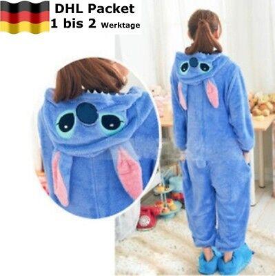 Disney Stitch Cosplay Tier Onesie Nachtwäsche Nachtwäsche (Disney Tier Kostüm)