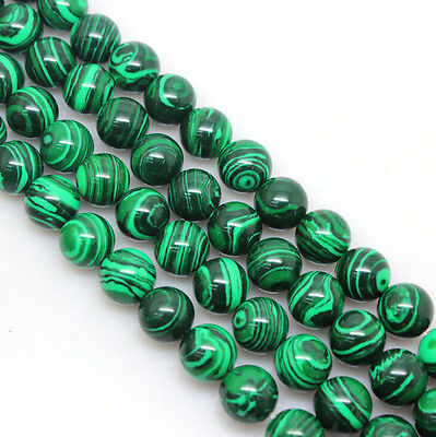 Natural Malachite Gemstone 6-10mm Beads 15.5'' For Bracelet or Necklace Making](Beads For Necklaces)