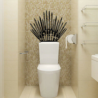 US GAME OF THRONES Iron Throne  Vinyl Decal Toilet Wall Sticker Home Decor Wrap (Decor Home)