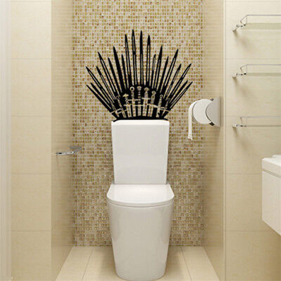 Home Decoration - US GAME OF THRONES Iron Throne  Vinyl Decal Toilet Wall Sticker Home Decor Wrap