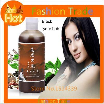 Grey Hair Removal Repair Anti White Hair Shampoo & Treatment Of Black Brunette