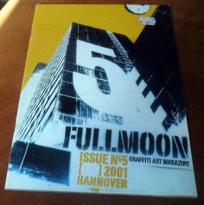 "Graffiti Buch / Magazine ""FULL MOON"" No.5 2001 Montana Molotow MTN Trains Wall"