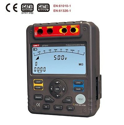 Uni-t Ut511 Digital Insulation Resistance Testers Megohmmeter 1000v 10gohm Vol