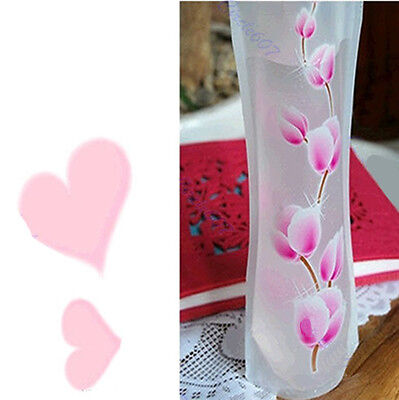 2/5/10Pcs Hot Unbreakable Foldable Reusable Plastic Flower Vase GF PL - Plastic Flower Vases