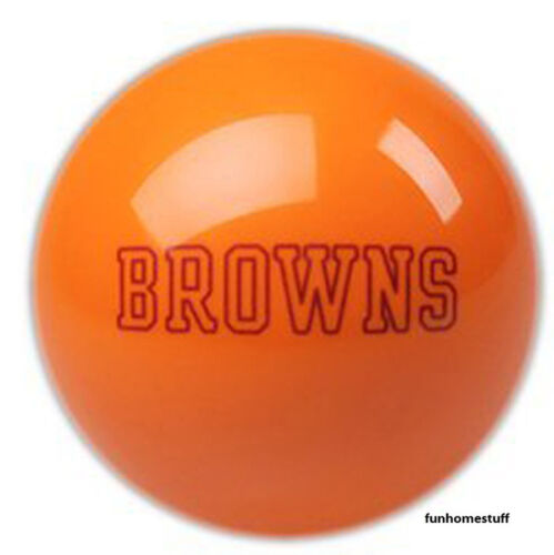 CLEVELAND BROWNS ORANGE NFL TEAM BILLIARD GAME POOL TABLE CUE 8 BALL REPLACEMENT