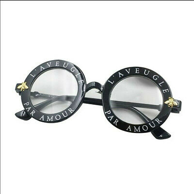 AKTION !!! Grosse Runde Sonnenbrille Damen Designer Klar