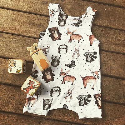 US Cute Baby Kids Boy Girl Vest Romper Jumpsuit Bodysuit Cotton Clothes Outfit - Cute Children Outfits
