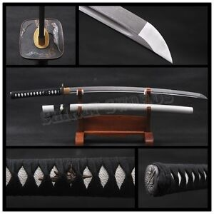New handmade1095 carbon folded steel blade forged Japanese samurai sword katana