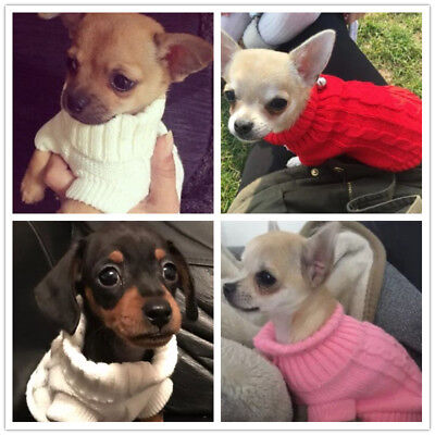 Xxxs Xxs Xs Small Chihuahua Knit Sweater Dog Knitted Coat Apparel For Teacup Cat