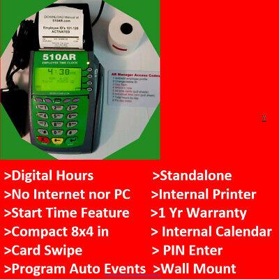 Best Seller Digital Employee Time Clock Punchswipe Thermal Printer Payroll