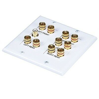 Monoprice 2-Gang 5.1 Surround Sound Distribution Wall Plate 4012 Wall Plate NEW