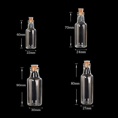 Cute Mini Beer Bottle Cork Stopper Glass Vial Jars Containers Drift Bottle 1pc - Cute Jars