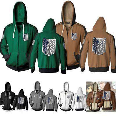 Attack on Titan Herren Sweat Hoodie Kapuze Pullover Sweatshirt Pulli Jacke Coat