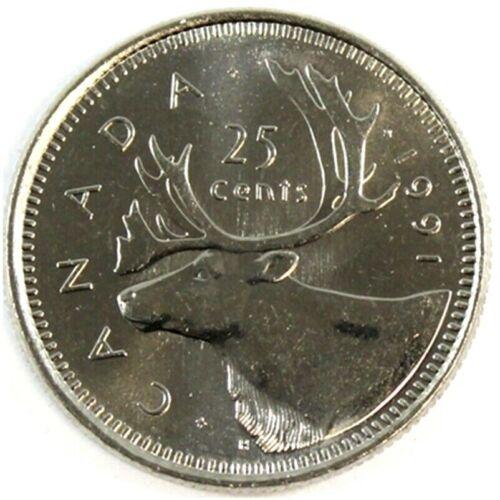 Canada 1991 *Key Date* 25 Cents UNC Choice BU!!