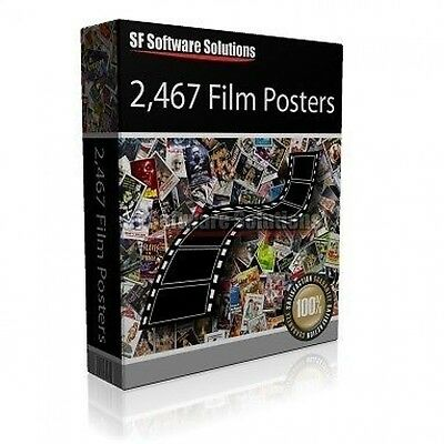 NEARLY 2500 HIGH RES MOVIE POSTERS ON DVD. HUGE COLLECTION IN HIGH RESOLUTION