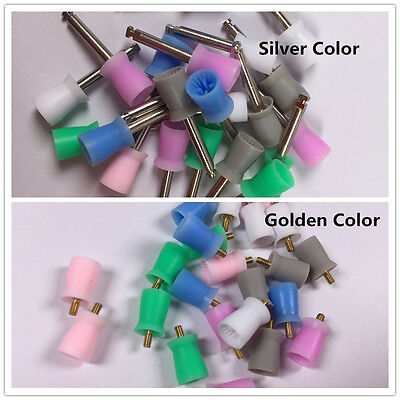 100 Pcs Polishing Cups Polisher Dental Silicon Rubber Colorful Free Shipping
