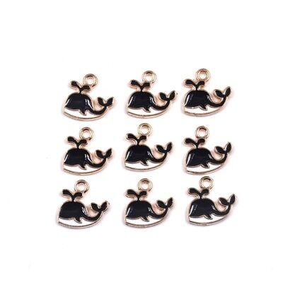 Enamel Whale Charm (10PC Cute Whale Enamel Charm Pendant 12*13mm For DIY Earrings Making)
