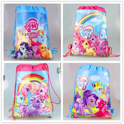 My Little Pony Girls Drawstring Bag Goody Backpack Kids Beach Party Gift Bag (My Little Pony Gift Bag)
