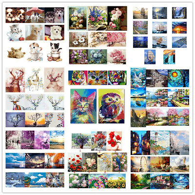 106Types 5D Paint By Numbers Kit DIY Oil Painting Canvas Home Office Decor Decal