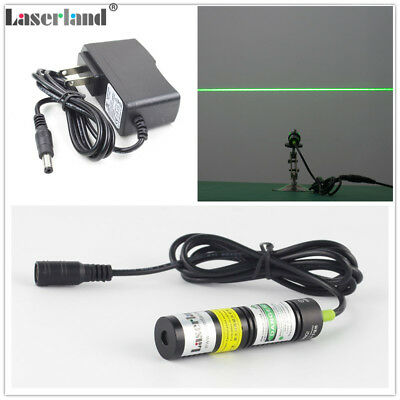 1875 532nm 30mw Green Laser Line Module Locator For Cutter 3v Adapter Glass Lens