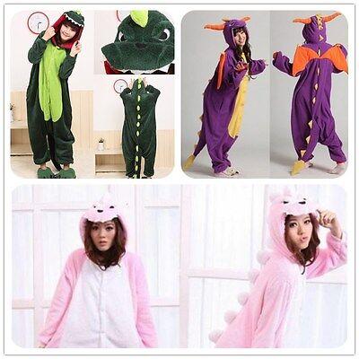 Adult Pajama Kigurumi Spyro The Dragon Dinosaur Cosplay Costume Animal Sleepwear - Spyro Dragon Costume