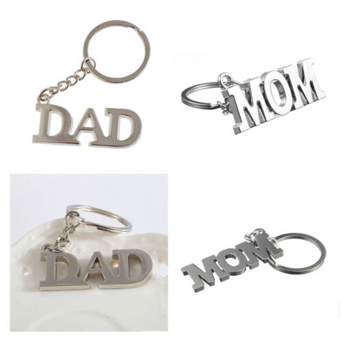 Antique Silver I Love Dad//Godfather Pendant Keychain Keyring Family Gifts