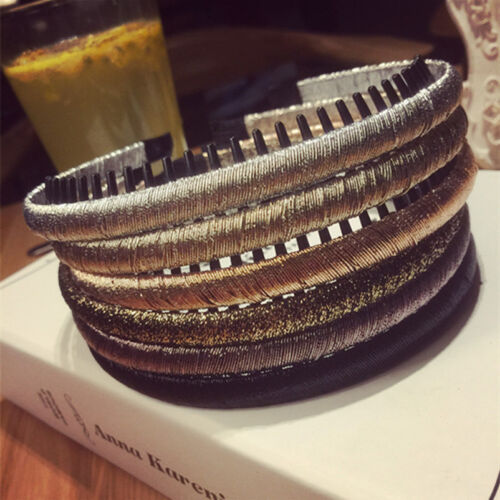 Women's Plastic Hairband Headband Hair Band with Tooth Comb