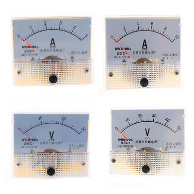 Analog Panel Ammeter Current Voltmeter Gauge Dc 0-5a10a0-30v50v Class 2.5