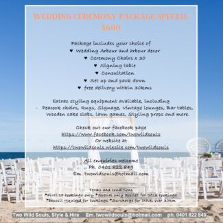 Wedding ceremony package special