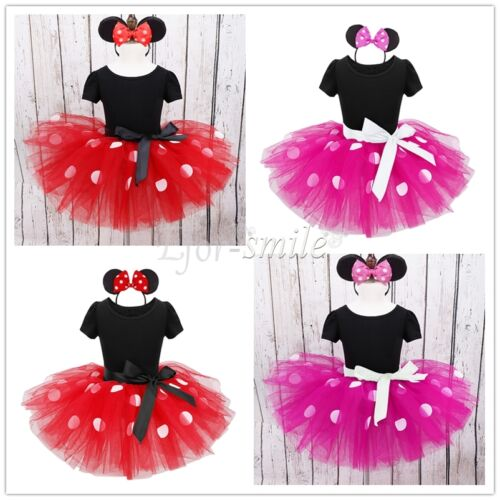 Baby Toddler Girl Minnie Mouse Costume Party Outfit Kids Bal