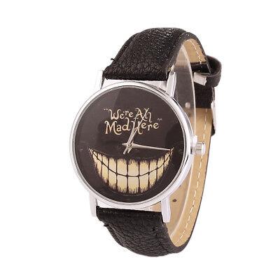 Halloween Watch Women Men Wristwatch We Are All Mad Here Big Mouth - Halloween Watch