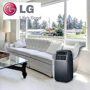 NEW LG AIR CONDITIONER - 118885137 - 12,000 BTU Portable Air Conditioner W/ Dehumidifier Function  Remote in Gray