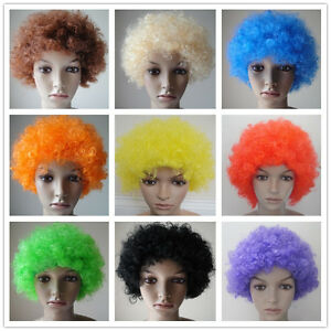 Curly-Afro-Fancy-Dress-Wig-Disco-Clown-Mens-Ladies-Costume-Accessory-10-Colours