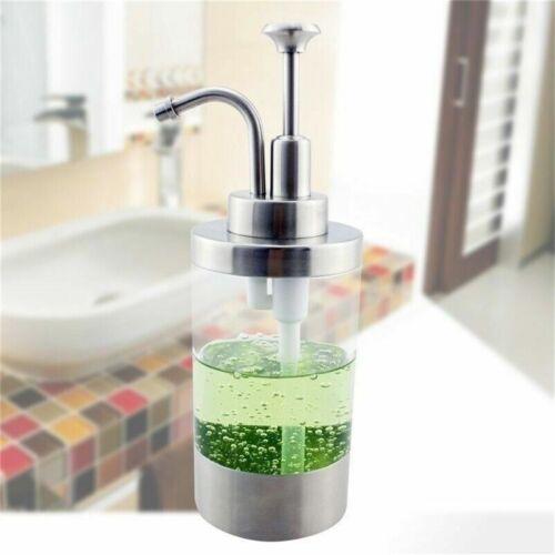 1P Soap Dispenser W/ Pump Countertop PE Bottle Stainless Ste