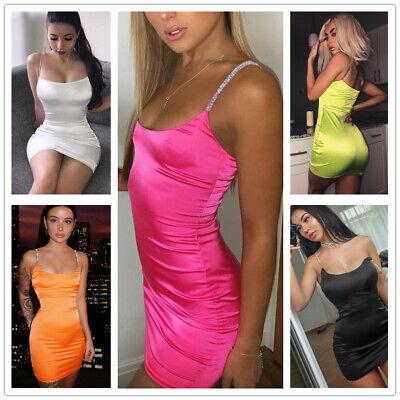 Abendkleid sexy Etuikleider rosa grün Strass Träger Party Clubwear 34/36/38/40  Grün Abend Kleid