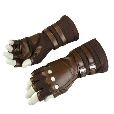 Captain America Leather Gloves (Captain America Gloves Leather gloves Avengers Infinity War Cosplay)