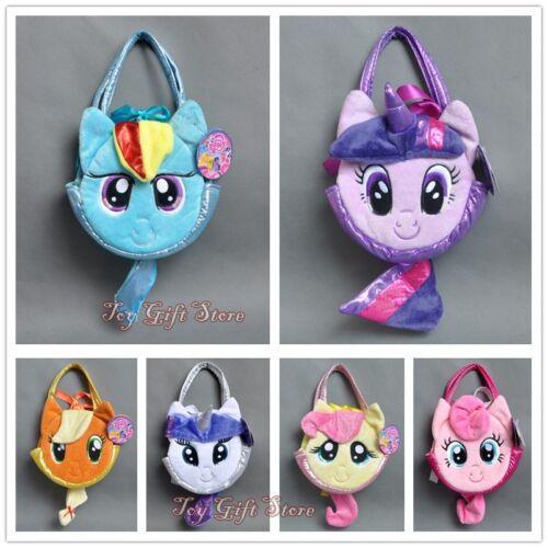 My Little Pony Pet Carrier PLUSH Soft Hand BAG Applejack Fluttershy Pinkie Pie
