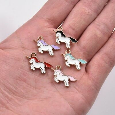 Cute Charms (Cute Unicorn Pony Charm Pendant For DIY Earrings/Bracelet/Necklace Making)
