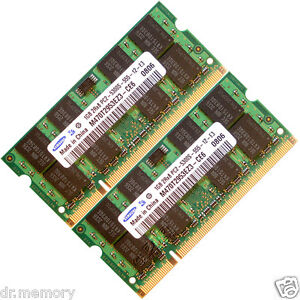2GB-2x1GB-DDR2-667-MHz-PC2-5300-5300S-Laptop-SODIMM-Memory-RAM-KIT-200-pin-CL5