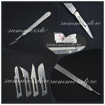 #10/11/12/15 Carbon Steel Surgical Scalpel Blade Board+#3 Stainless Steel Handle Stainless Steel Surgical Blade
