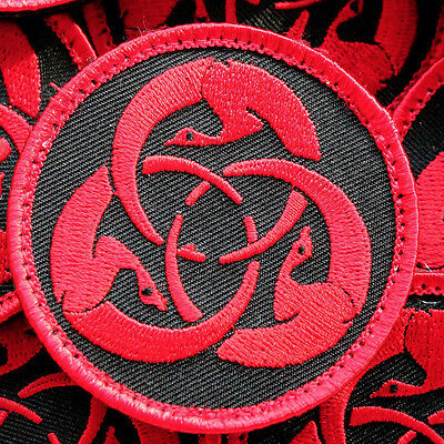 Birds of War -Black / Red patch inspired by ghost dog and book hagakure