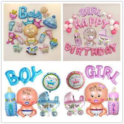 5pcs Its A Boy / Girl Letters Foil Balloons DIY Baby Shower Birthday Party Decor - Its A Boy Balloons