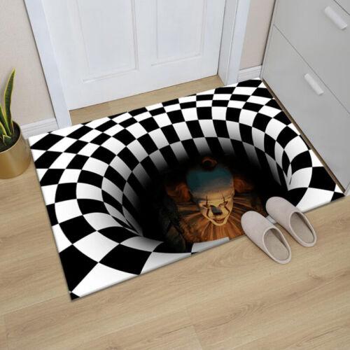 3D Printed Round Vortex Illusion Living Room Rug Carpet Floo