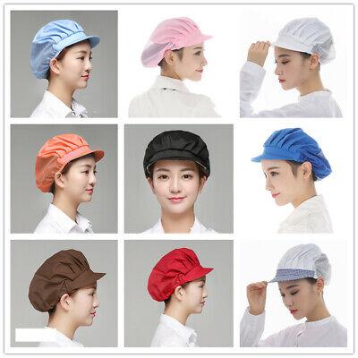 Cook Hats (Cook 10 Colors Men Women Kitchen Baker Chef Elastic Cap Dustproof Hat)