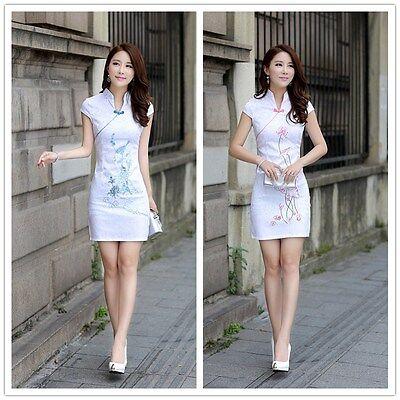 Retro Ladies Qipao Slim Charming Chinese women skirt evening dress Cheongsam