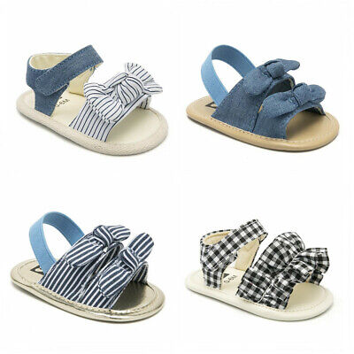 Infant Child Summer Sandals Newborn Baby Girl Bowknot Crib Shoes Size 3 6 9 12 M